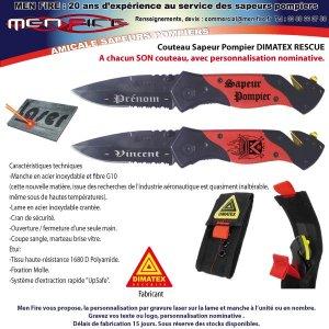 Couteau Dimatex - Rescue Personnalisé