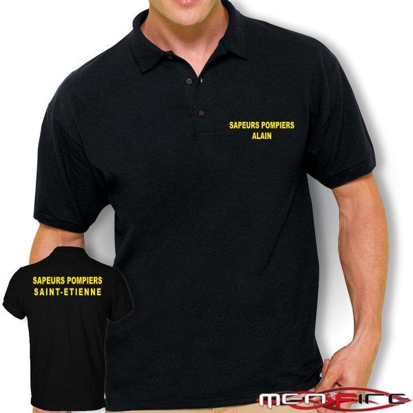 Polo personnalis men fire la boutique des sapeurs pompiers v tements accessoires - Faire tee shirt personnalise ...