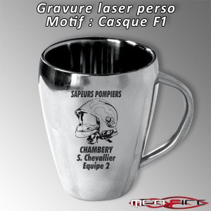 Tasse inox personnalis e men fire la boutique des - Creation de tasse personnalisee ...