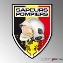 Autocollant Sapeurs Pompiers - Belges