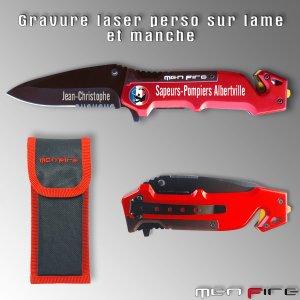 Couteau Tactique MF18 - Personnalisé