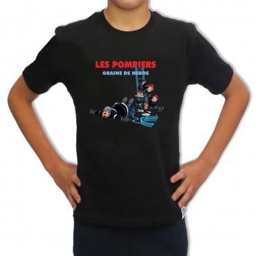 Tee shirt Sapeur Pompier Enfant : Graine de Héros
