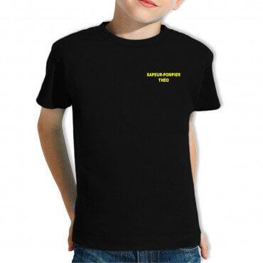 Tee-shirt Pompier Enfant - Personnalisé