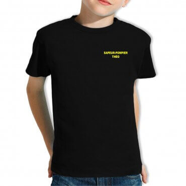 Tee-shirt Pompier Enfant -...