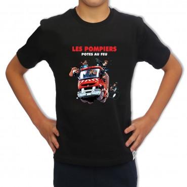 Tee-shirt Sapeur Pompier Enfant - Pote au Feu