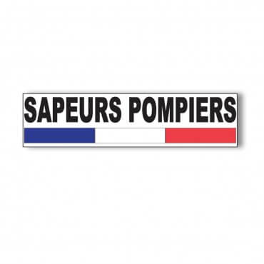Autocollant Sapeurs Pompiers Rectangle