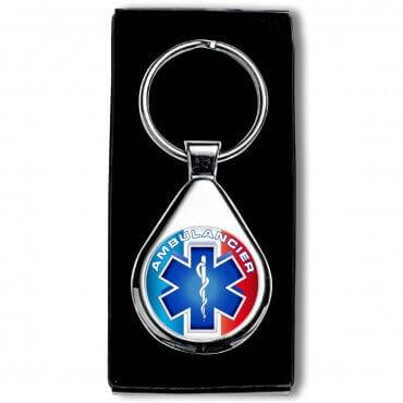 Porte clés Ambulancier - Rond