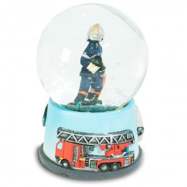 Mini Boule de Neige Pompier