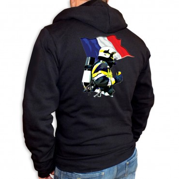 Sweat Capuche Men Fire - Drapeau MF