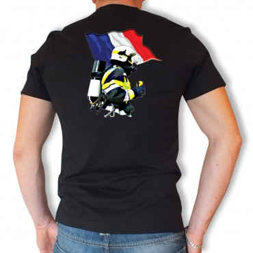 Tee shirt Men Fire : Drapeau MF