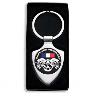 Porte clés Drapeau France Casques Élites - Blason