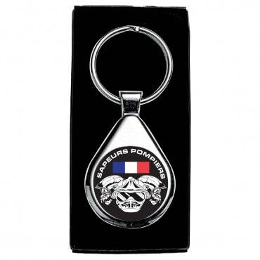 Porte clés Drapeau France Casques Elites - Rond