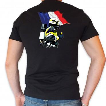 Tee shirt Col V : Drapeau MF