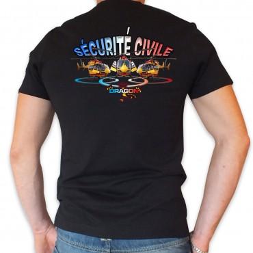 Tee shirt Col V : Sécurité Civile