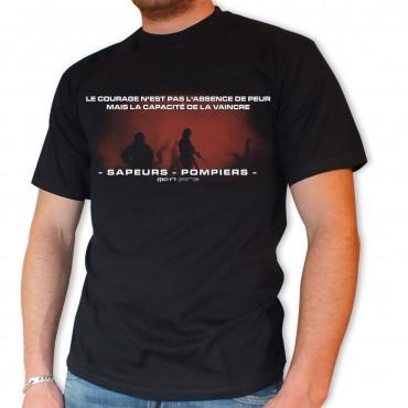 Tee shirt Men Fire : Courage