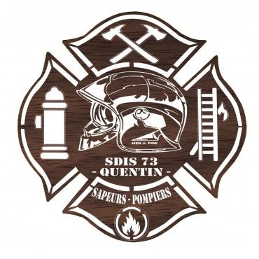 Tableau Sapeurs Pompiers Bois - Personnalisé