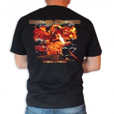 Tee shirt Men Fire : Duel