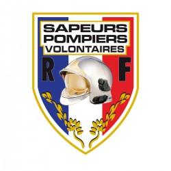 Autocollant Sapeurs Pompiers Volontaire - Blason