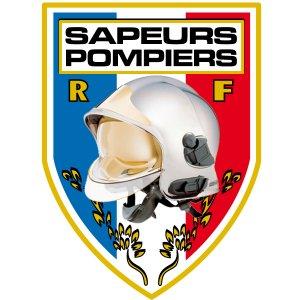 Autocollant Sapeurs Pompiers Pare Brise -  Blason