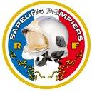 Autocollant Sapeurs Pompiers - Rond
