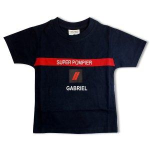 Tee-shirt Super Pompier® Personnalisé