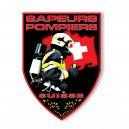 Autocollant Sapeurs Pompiers Suisse