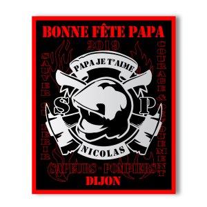 Tableau Sapeurs Pompiers Personnalisé