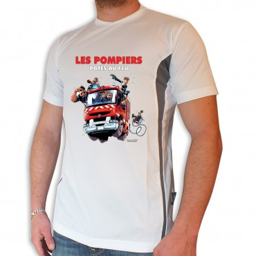 Tee shirt Men Fire : Pote...