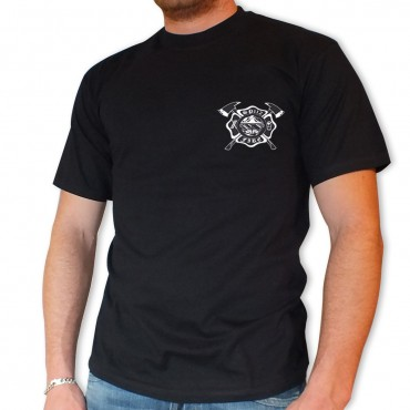 Tee shirt Men Fire : Blason Casque F2
