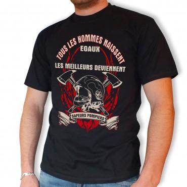 Tee shirt Men Fire : Libre et Égaux