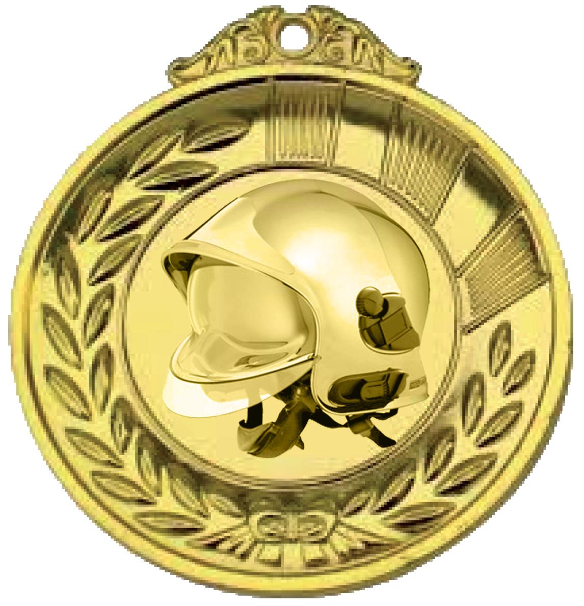 médaille or Pompier